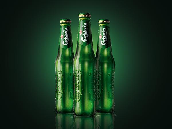 Carlsberg Profile Bottle Splash Gradient Water Carlsberg - beer label