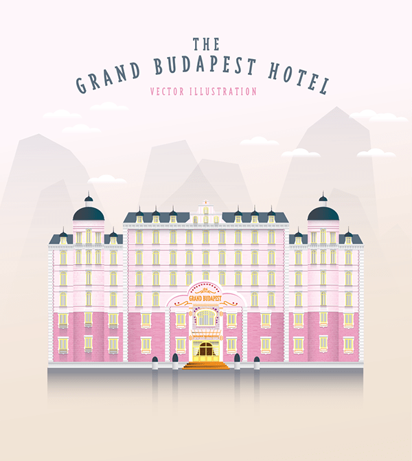 Iphone Plus Wallpaper The Grand Budapest Hotel Vector Illustration On Behance