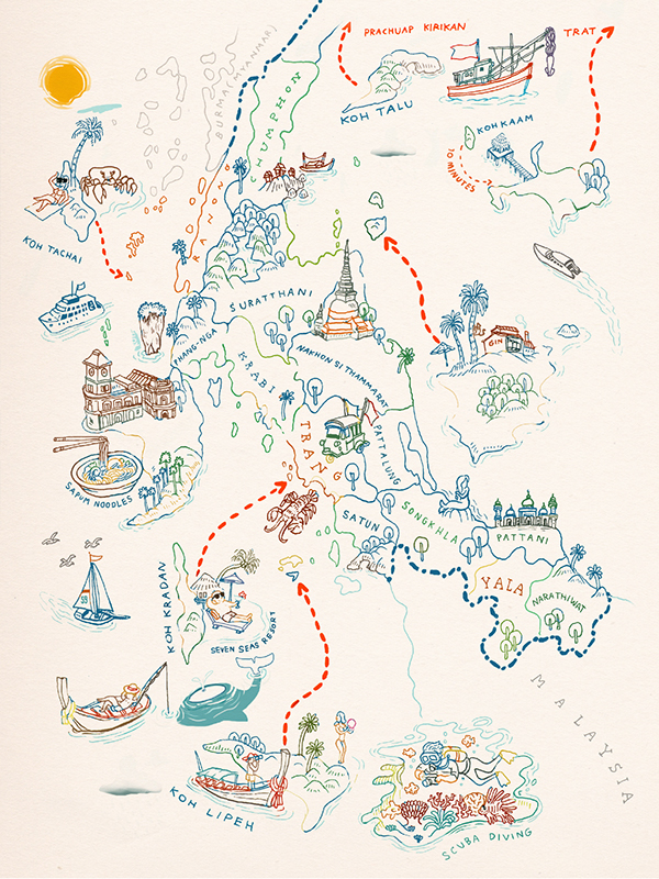 A Map Illustration for the tourist pocket book  - copy world map vector graphic