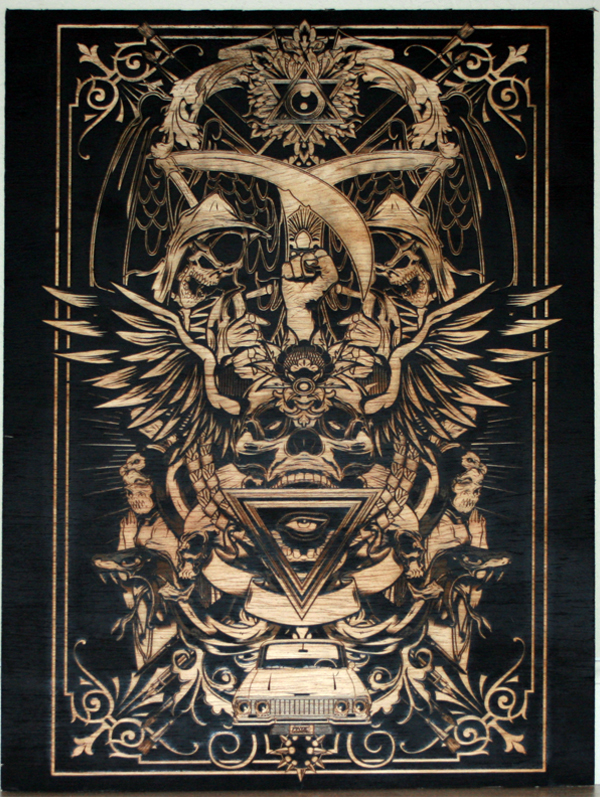Satanic Iphone Wallpaper Woodwork Laser Etched Wood Pdf Plans