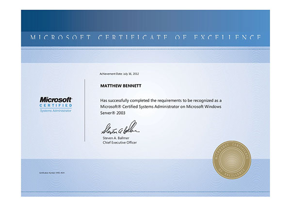 microsoft certificate of excellence - 28 images - 1st blogs