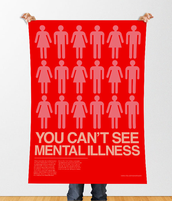 ... You Canu0027t See Mental Illness By Siobhan Hattersley, Via Behance   Basketball  Flyer Example ...