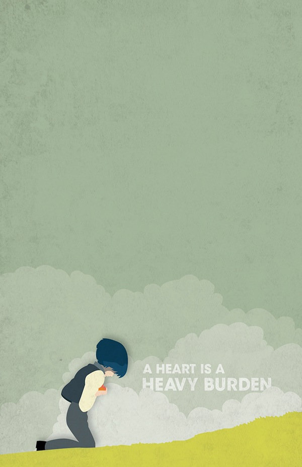 Minimalist Quote Wallpaper Posters Howl S Moving Castle On Behance