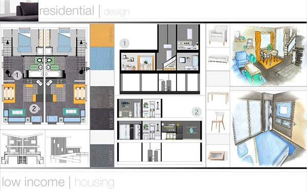 Interior design portfolio residential design on behance