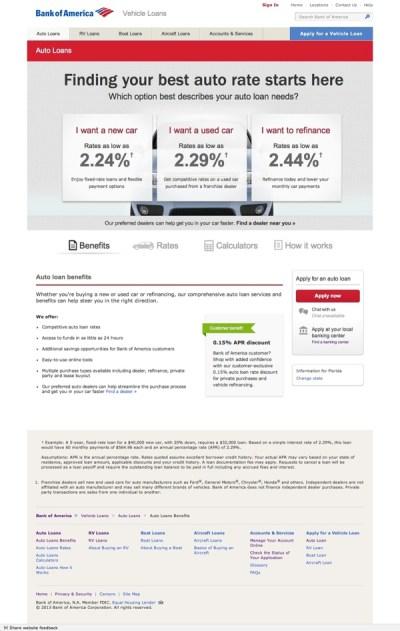Bank of America Vehicle Loans on Behance