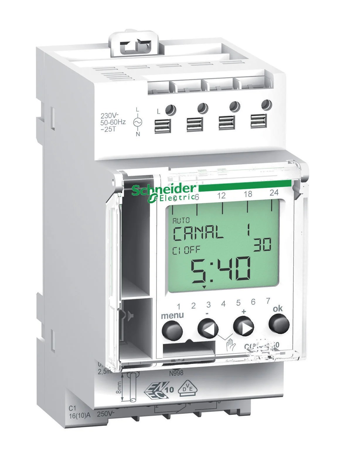 Horloge Digitale Schneider Electric 16 A Leroy Merlin