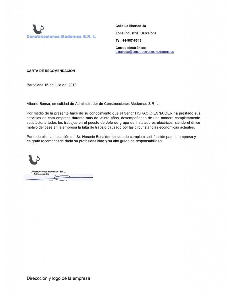 Ejemplo De Carta De Recomendacion Chile – Que Es Una Cover Letter