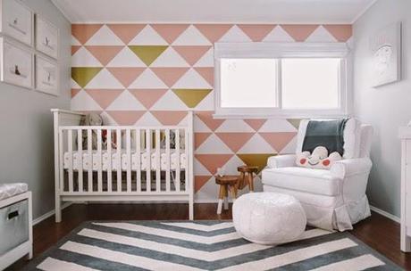 Teenage Girl Room White And Gold Polka Dot Wallpaper Moda Para El Hogar Tri 225 Ngulos Paperblog