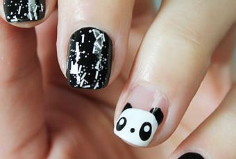 Unas Decoradas Con Animales Paso A Paso Panda Nail Art