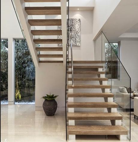 Vivienda contemporánea con toques étnicos Home Deco Pinterest - decoracion de escaleras