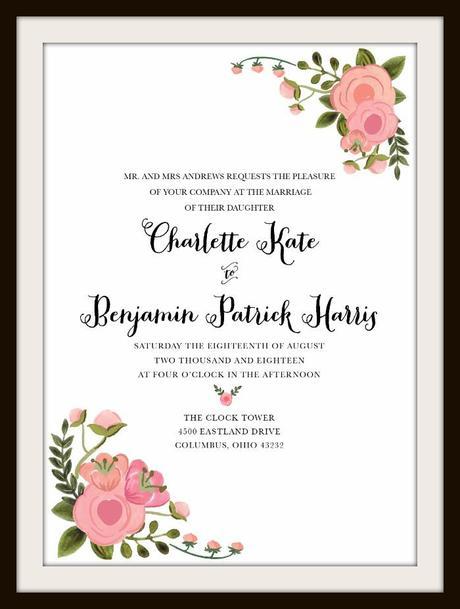 Invitaciones imprimibles gratis para Boda - Paperblog - invitaciones de boda gratis