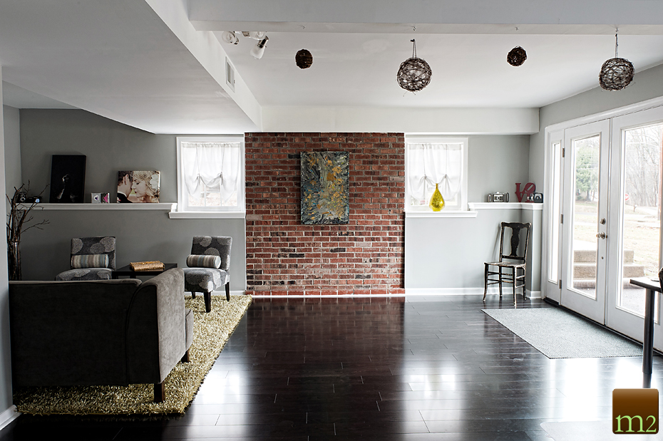 Brick feature wall in the living room Spaces Pinterest Brick