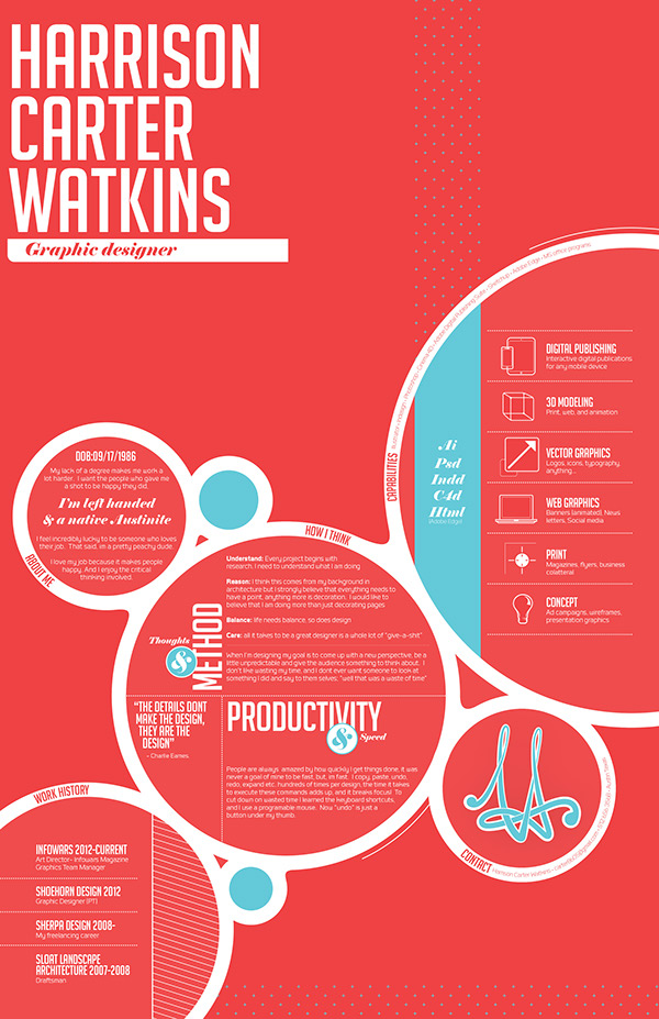 What are the most visually creative resumes you\u0027ve seen? - Quora