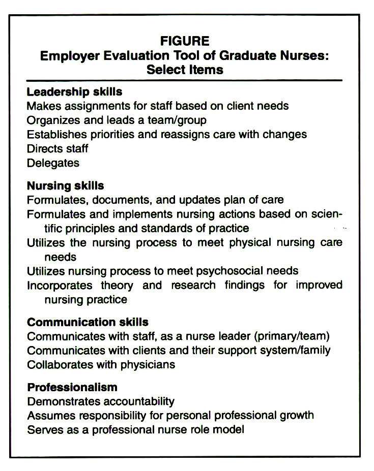 Employer Evaluations of Nurse Graduates A Critical Program