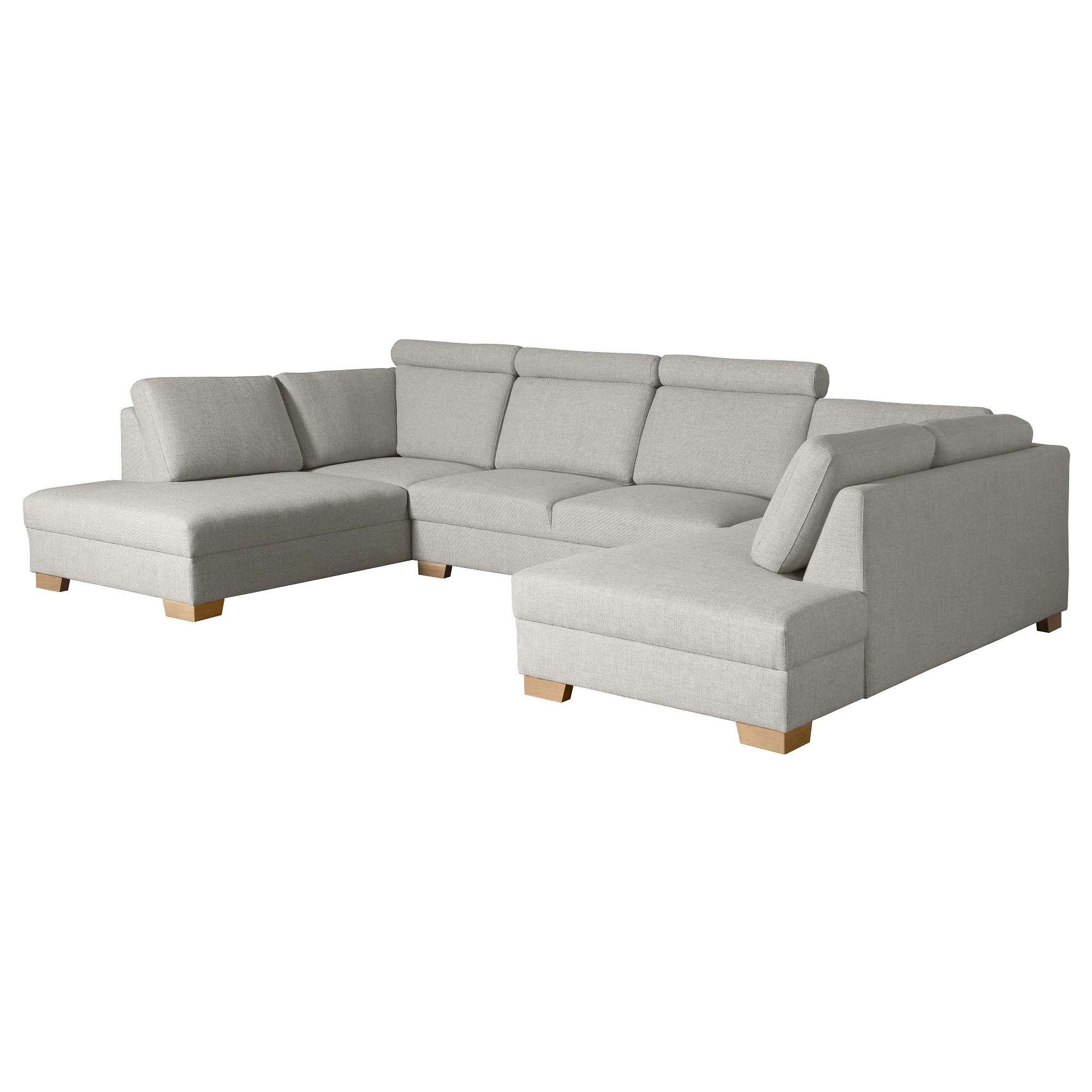 U Sofa U Shaped Sofa 4 Seat SÖrvallen Tenö Light Grey