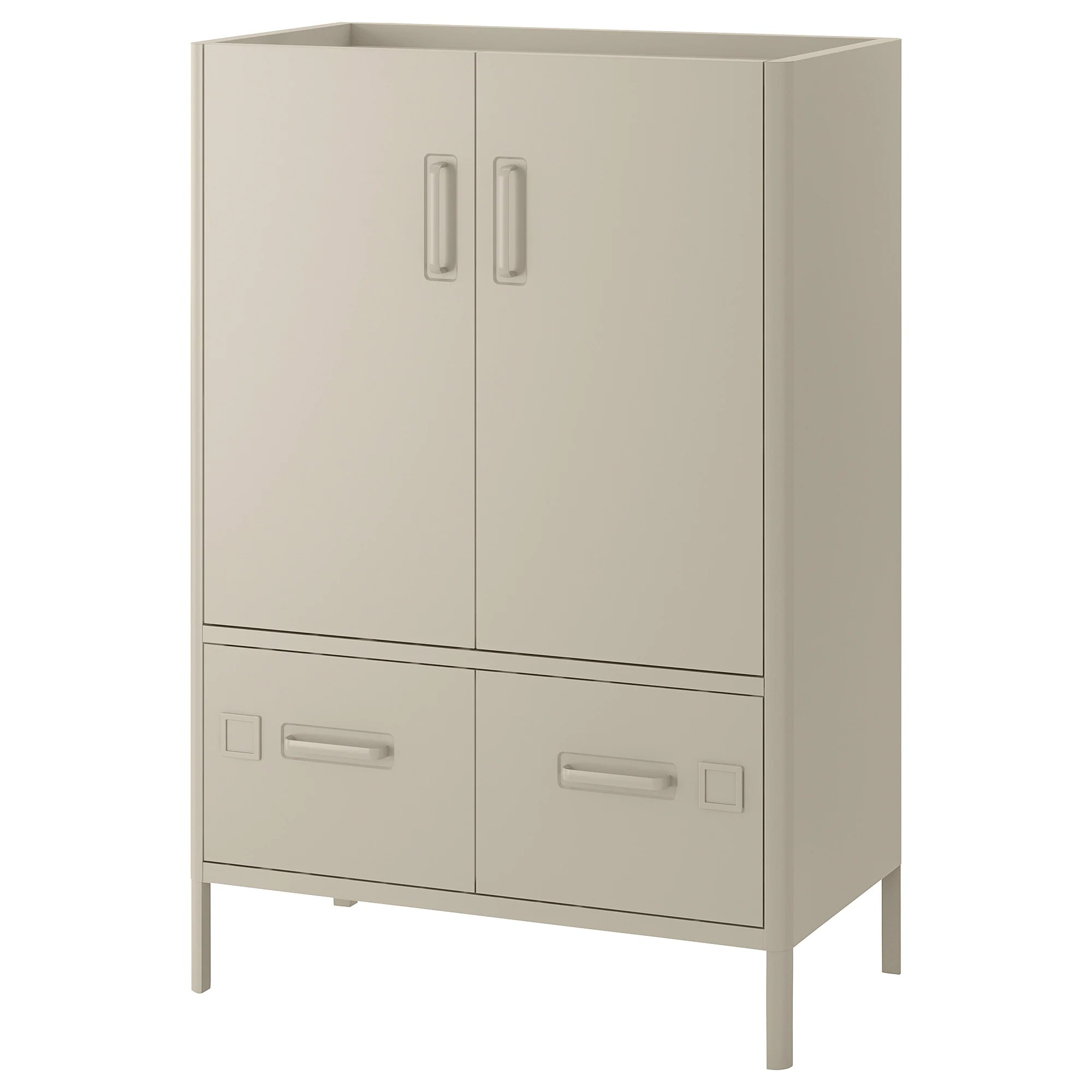 Cabinet Drawers Cabinet With Doors And Drawers IdÅsen Beige
