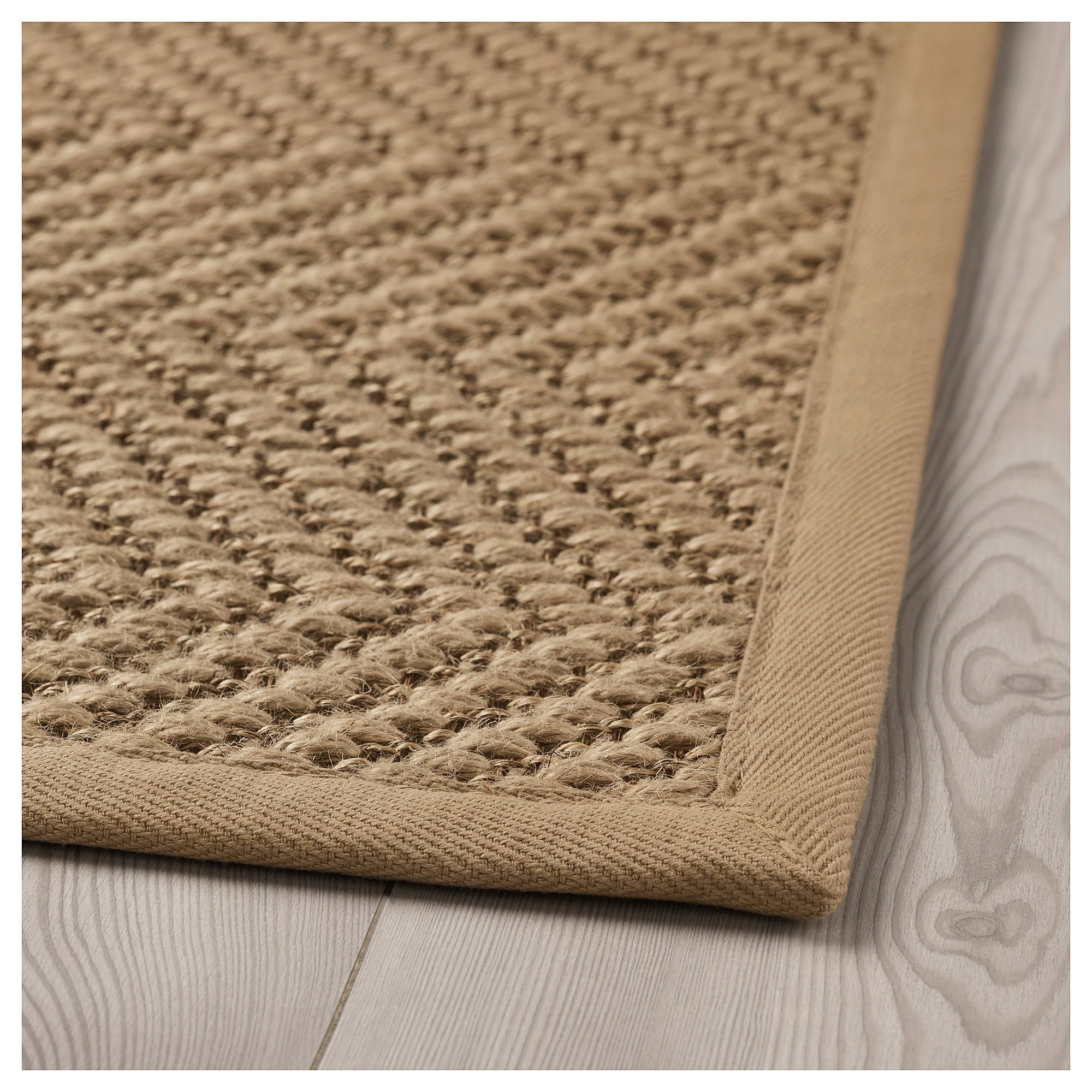 Ikea Niños Alfombras Hellested Rug, Flatwoven - Natural, Brown - Ikea