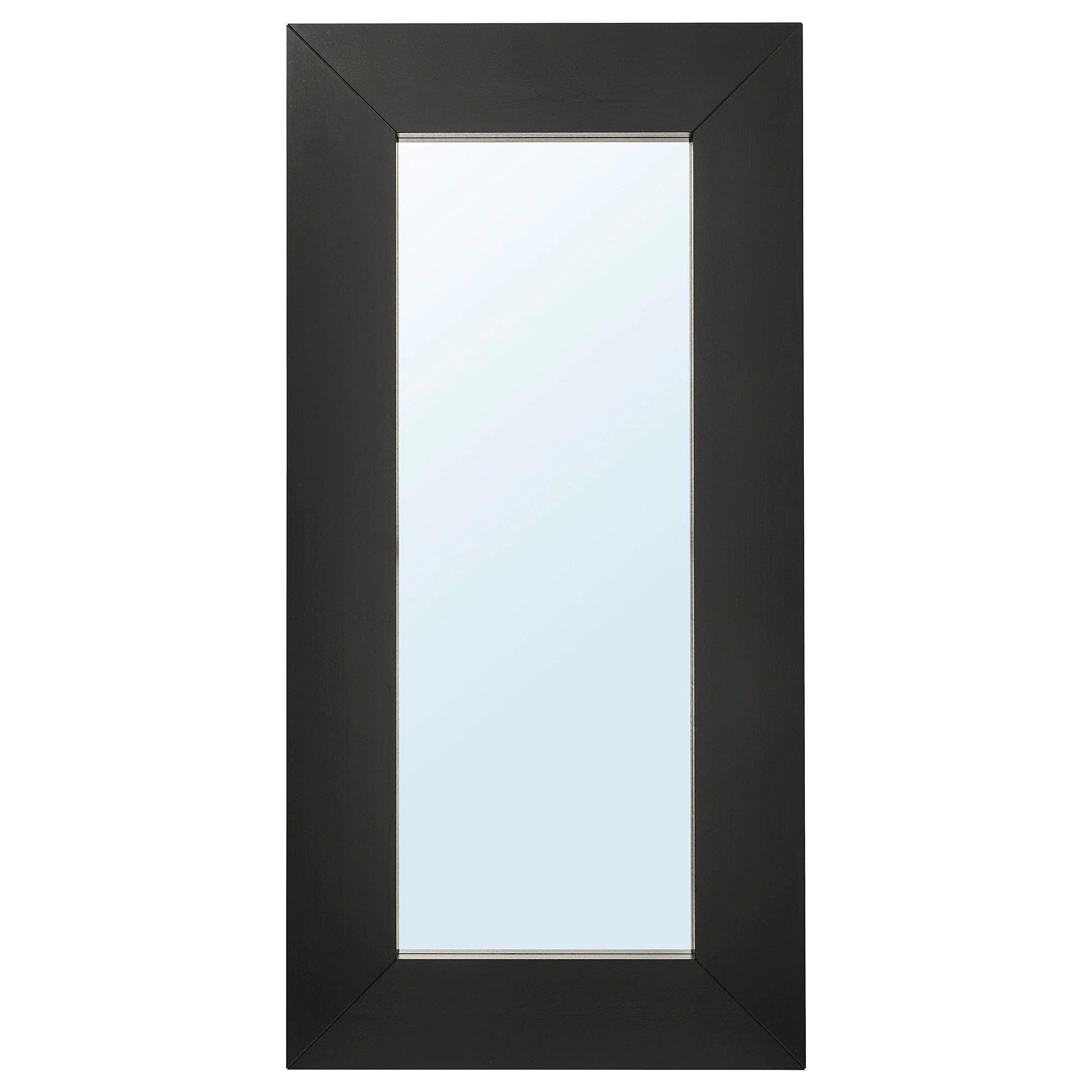 Mongstad Mirror Black Brown Ikea - Miroir Long Ikea