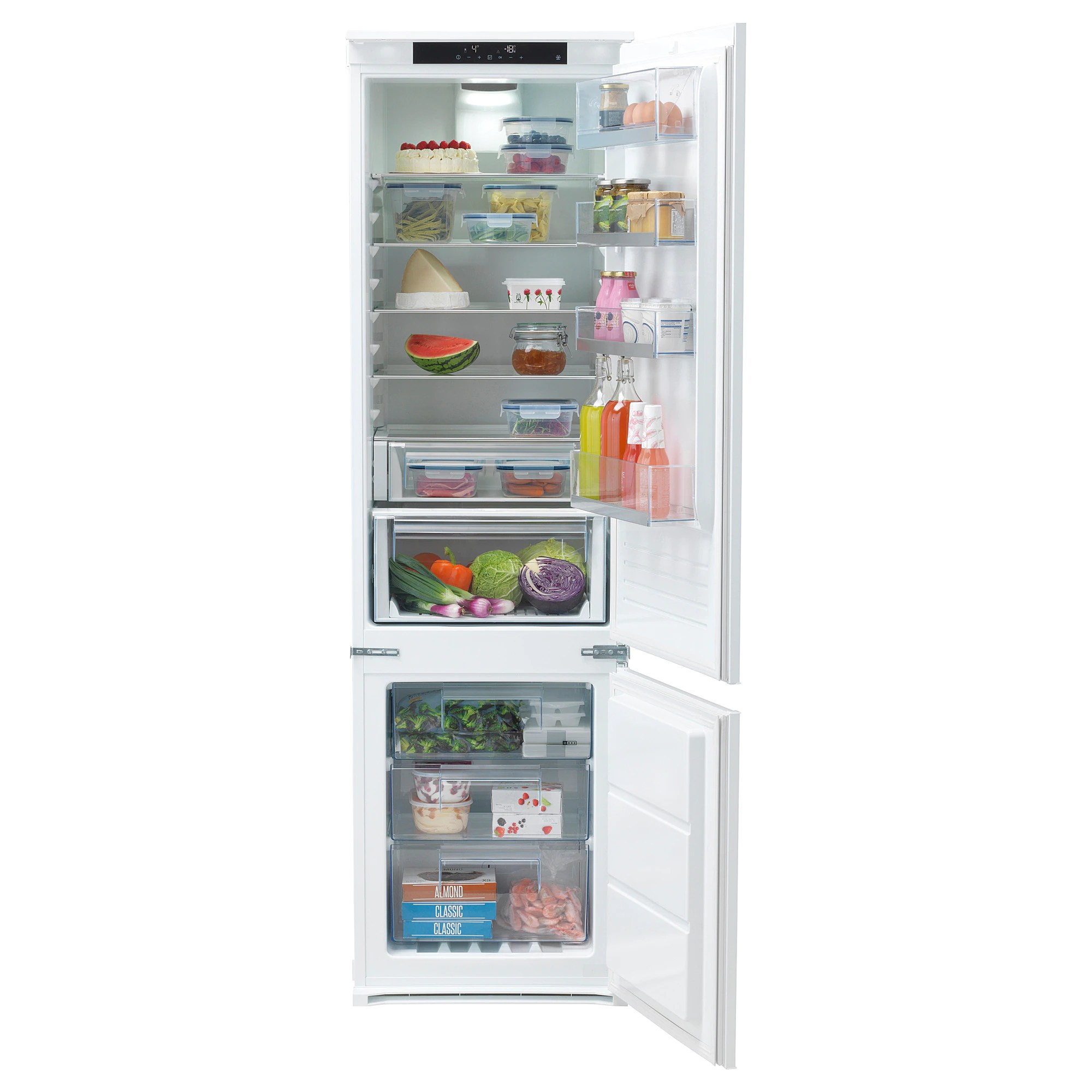 Kulinarisk Test Integrated Fridge Freezer A KÖldgrader White