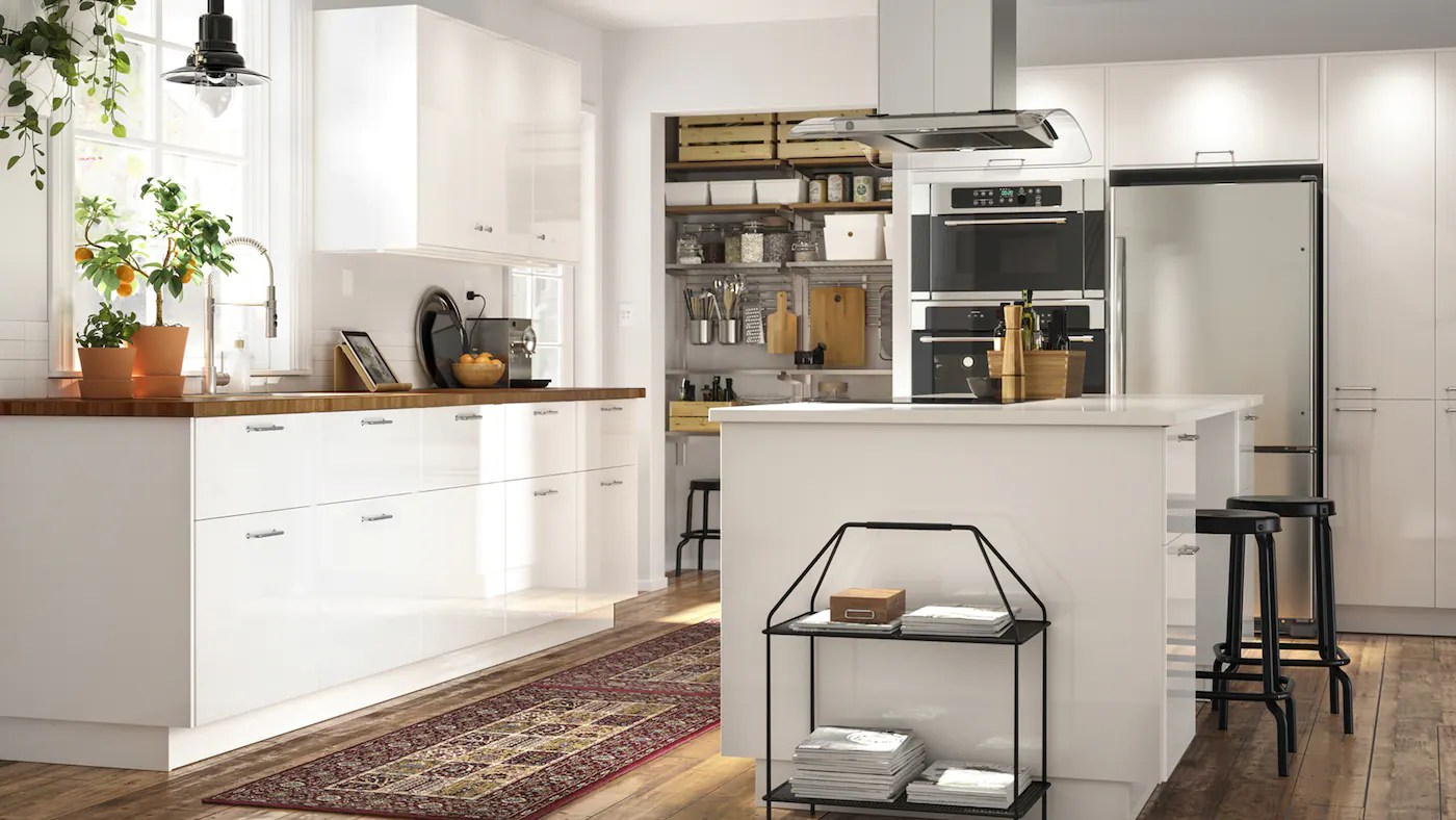 Ikea Kitchen Island Shelves Stainless Steel Armoires De Cuisine Et Façades - Ikea®