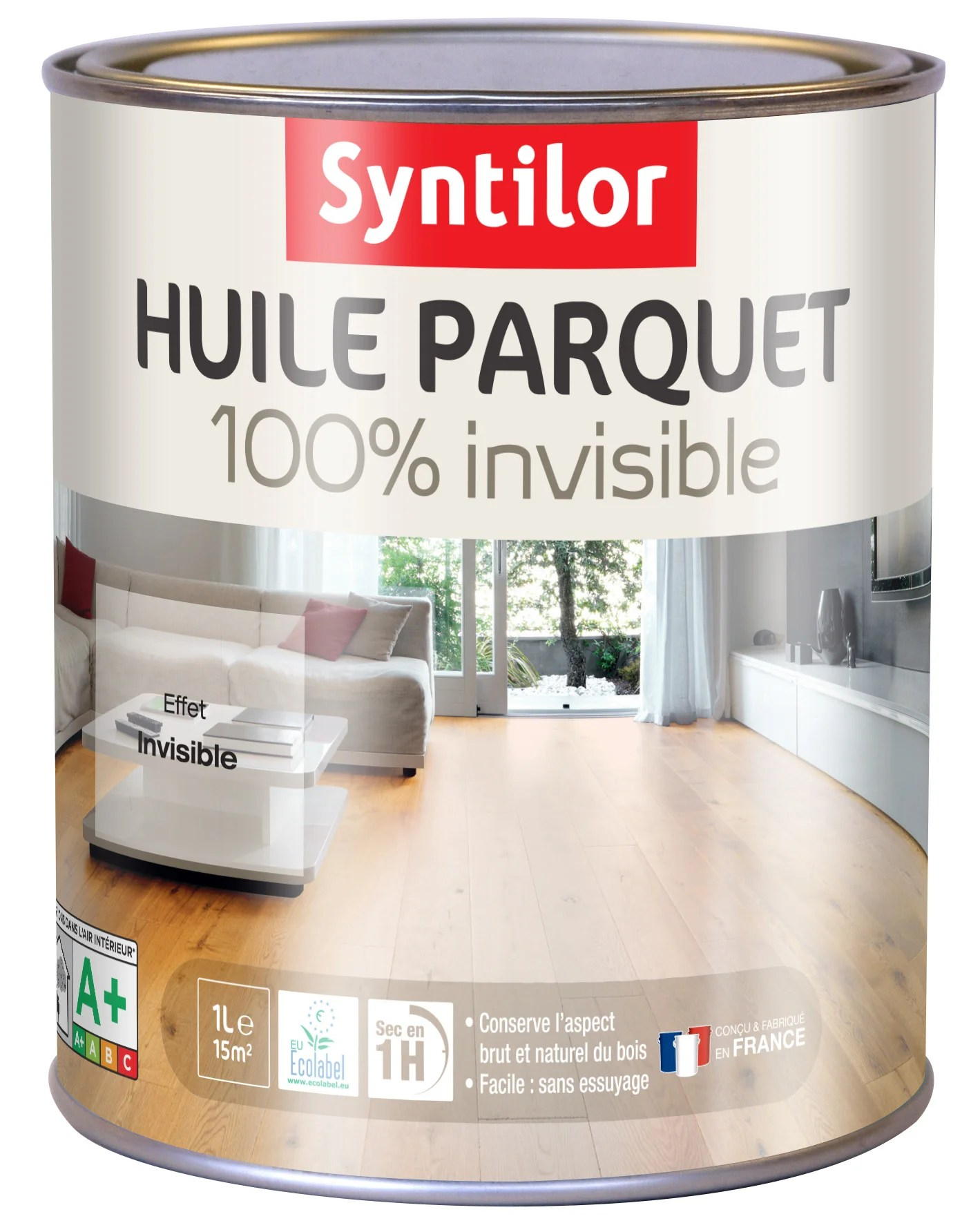 Huile Parquet 100 Invisible Syntilor 1 L Incolore Leroy Merlin