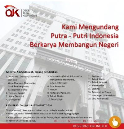 OJK Buka Kesempatan Karir Untuk Putra-Putri Indonesia   M2Indonesia