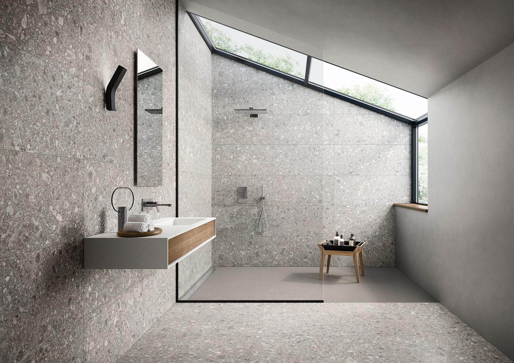 Bagno design grey porcelaingres urban