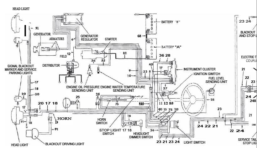 1958 willys panel wiring diagram