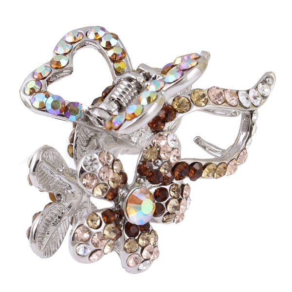 Lady DIY Hairstyle Rhinestone Decor Flower Leaf Hairclip Hair Clamp. 1100 x 1100.Hairstyles New Leaf