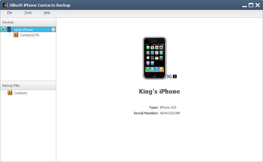 Xilisoft iPhone contacts backup iPhone contacts transfer, backup