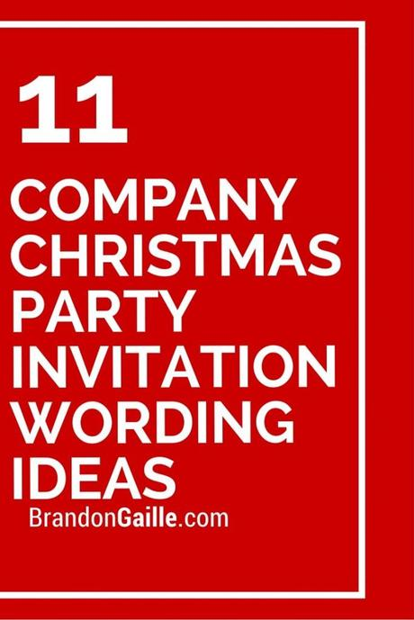 Corporate Party Invitation Wording - Paperblog