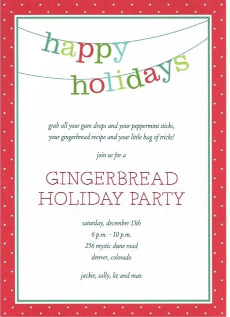 Free Holiday Party Invitation Templates Word - Paperblog