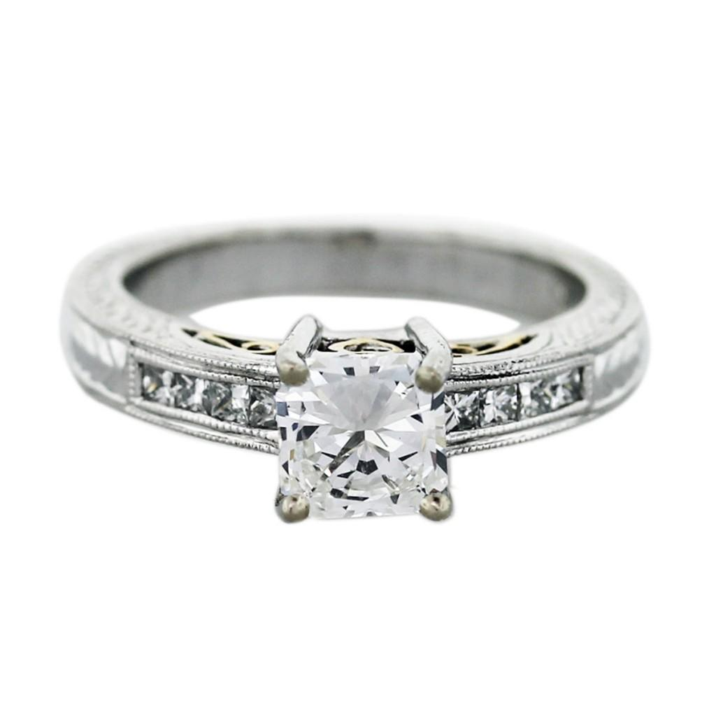 square diamond wedding ring square cut diamond wedding rings natalie k radiant cut diamond engagement - Square Cut Wedding Rings