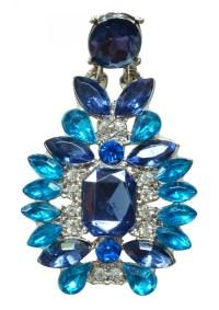 Ocean Blue Statement Earrings