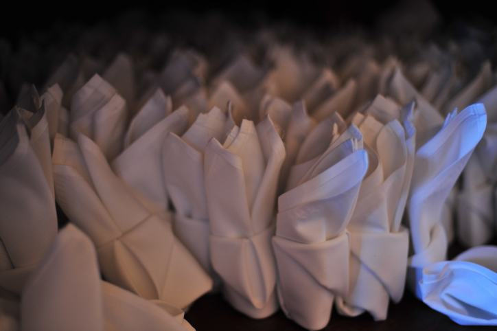 Many napkins