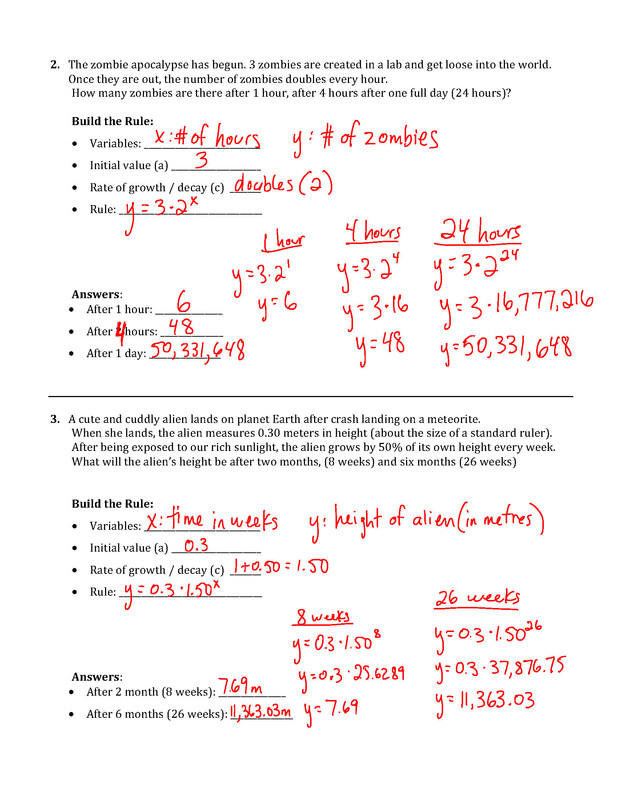 Answers to worksheet 10 - Mr Maag - Grade 10 Math