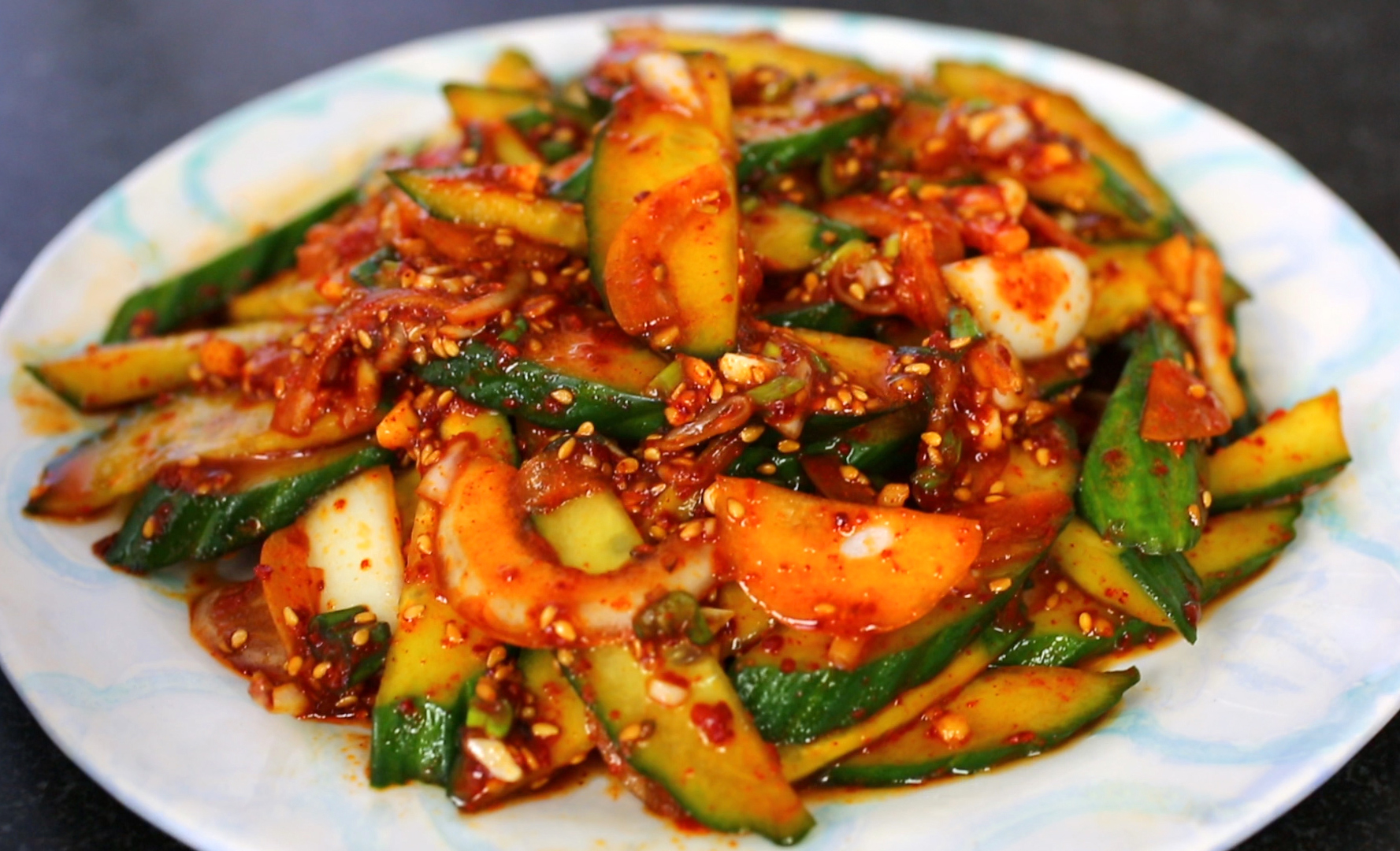 Cuisine Spicy Spicy Cucumber Side Dish Recipe Maangchi
