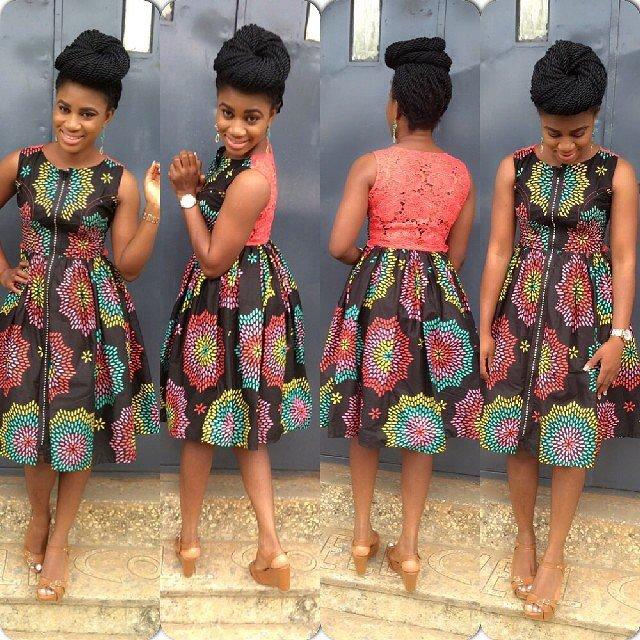 Short gown with ankara joy studio design gallery best
