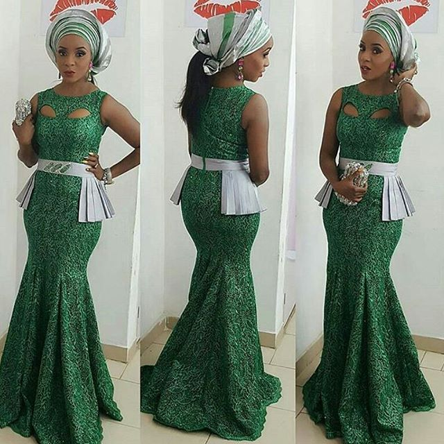 Fabulous Lace Aso Ebi Styles For Nigerian Wedding Guests