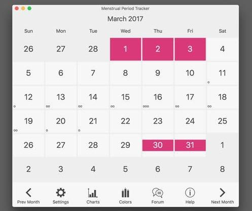 Menstrual Period Tracker and Ovulation Calendar Mac 596 - Download