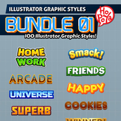 100 illustrator graphic styles bundle 01 10424817 icon