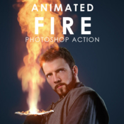 Graphicriver animated fire photoshop action 19171775 icon