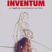 Inventum 3d sketch photoshop action 19201944 icon