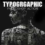 Typographic acciones photoshop icon