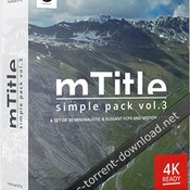 Motionvfx mtitle simple pack vol 3 for fcpx and motion 5 icon