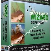 Green screen wizard professional icon