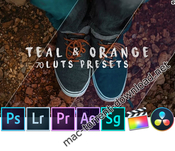 Teal and orange standard pack rmn 70 luts and presets icon