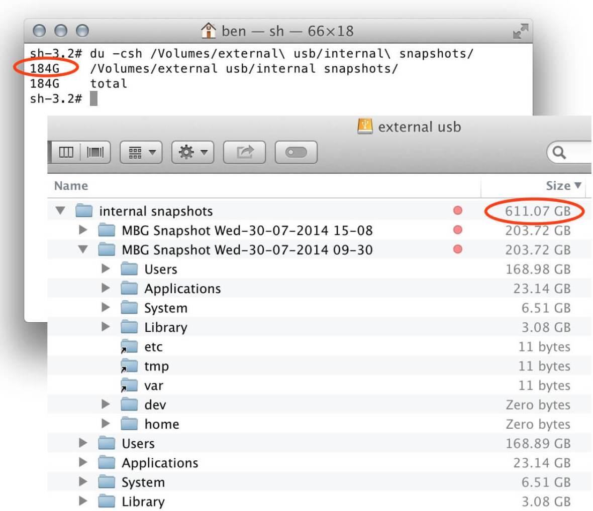 MacBackupGuruSoftwareDuVsFinderSizes