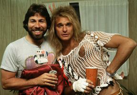 Steve Wozniak and David Lee Roth US festival