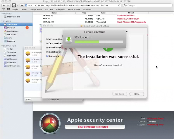 Mac Guard Virus Install